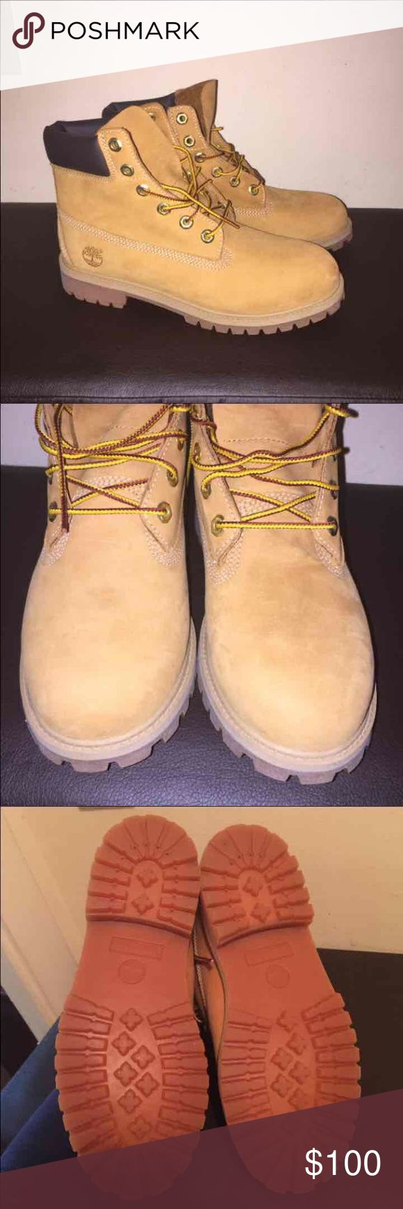 Timberland boots **Size 7 Men's/size 9 women's   **wheat color  Brand new. Does not come with original box Timberland Shoes Winter & Rain Boots