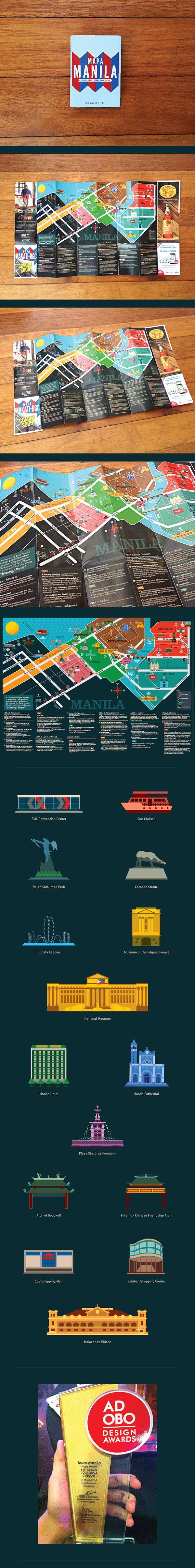 Illustrations & Layout for Mapa Manila by Jeth Torres, via Behance