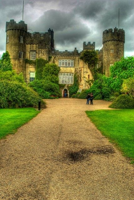 Malahide Castle is located in Dublin in Ireland. It was built in the 12th century. #dublin #travel #usa #tour #vacation #holiday #destination #beautiful #place