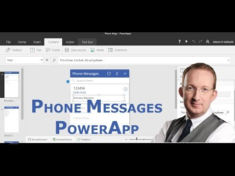 *Create a Phone Messages PowerApp* Create a PowerApp from a SharePoint Phone Messages list, modify it and add it to a mobile device: http://www.kalmstrom.com/Tips/Office-365-Course/Phone-PowerApp.htm