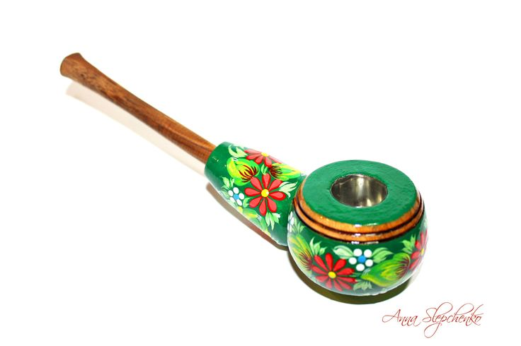 Excited to share the latest addition to my #etsy shop: Smoking pipe, Handmade smoking pipe, Wooden smoking pipe,Original handmade smoking pipe, Hand-painted tobacco pipe,Collectible peace pipe http://etsy.me/2iqV0I1 #vintage #collectibles #birthday #fathersday #green #red #tobacc