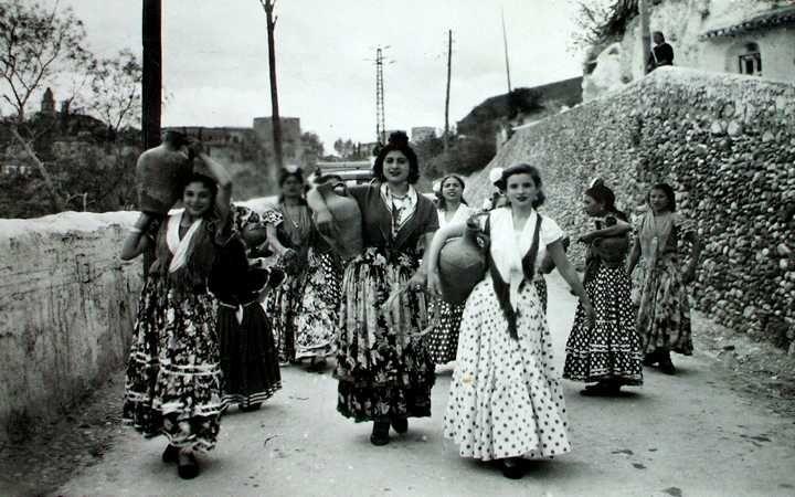 Barrio del Sacromonte, Granada, principios S.XX
