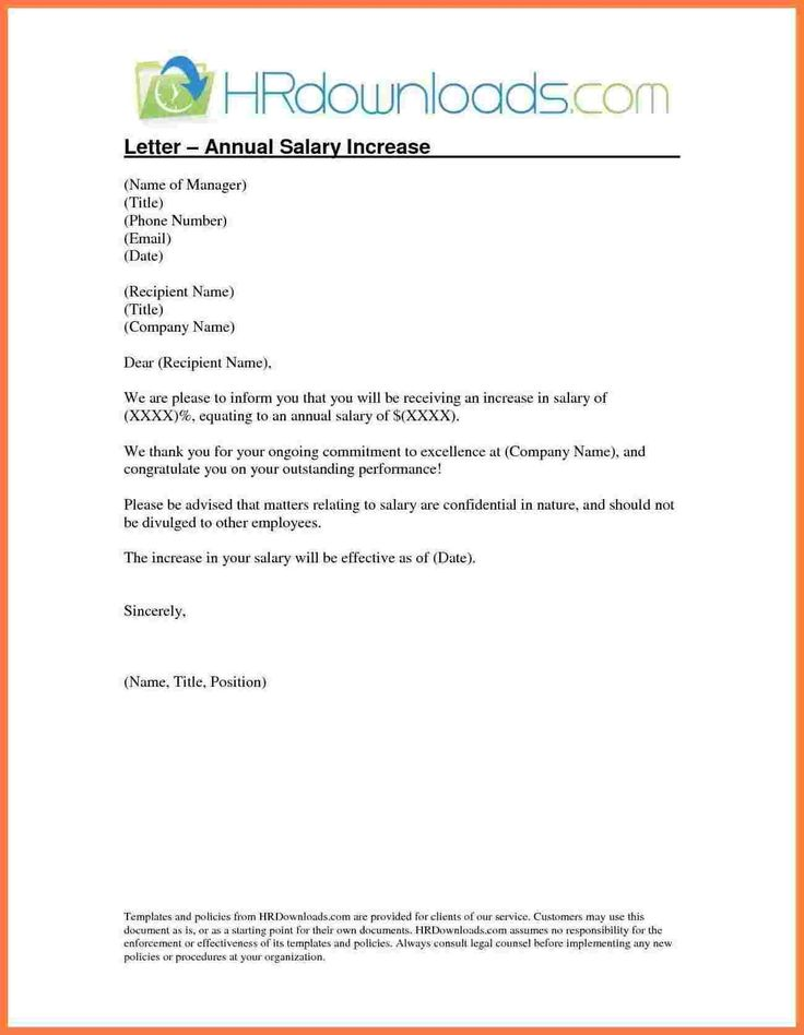 salary increment letter format by employer copy 5 template