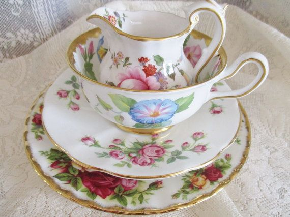 Hey, I found this really awesome Etsy listing at https://www.etsy.com/ca/listing/384549502/vintage-4pc-mismatched-tea-set-set