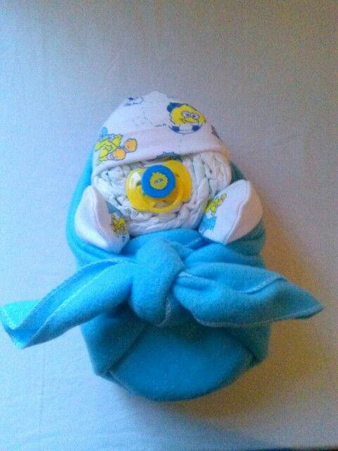 "Baby Bundle of Joy diaper cake Big Bird style! Corner Stork Bakery.com ""like"" us on FB! Thanks for looking"