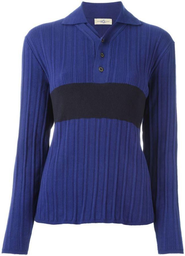 Romeo Gigli Vintage knit polo shirt