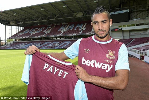 Dimitri Payet (FRA) - From Olympique Marseille (FRA) to West Ham (ENG) - £ 10.7 million - 2015