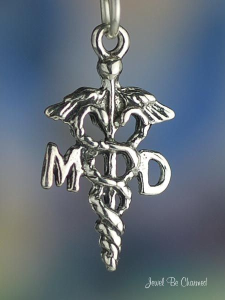 Doctor Charm Sterling Silver MD Medical Doctors by jewelbecharmed, $5.95