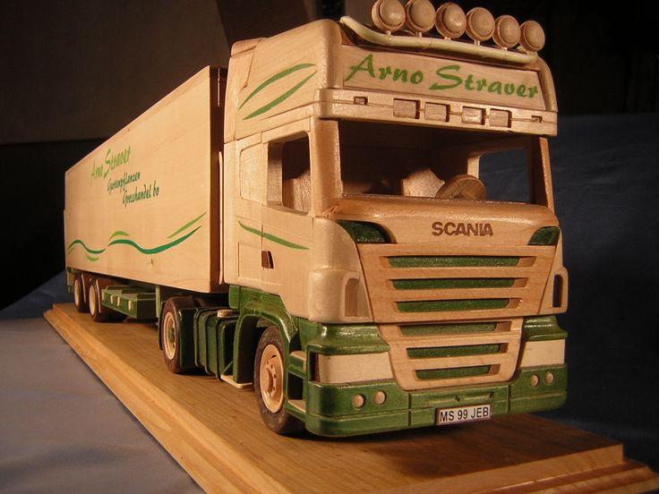 Resultado de imagem para wooden scania lorry toy