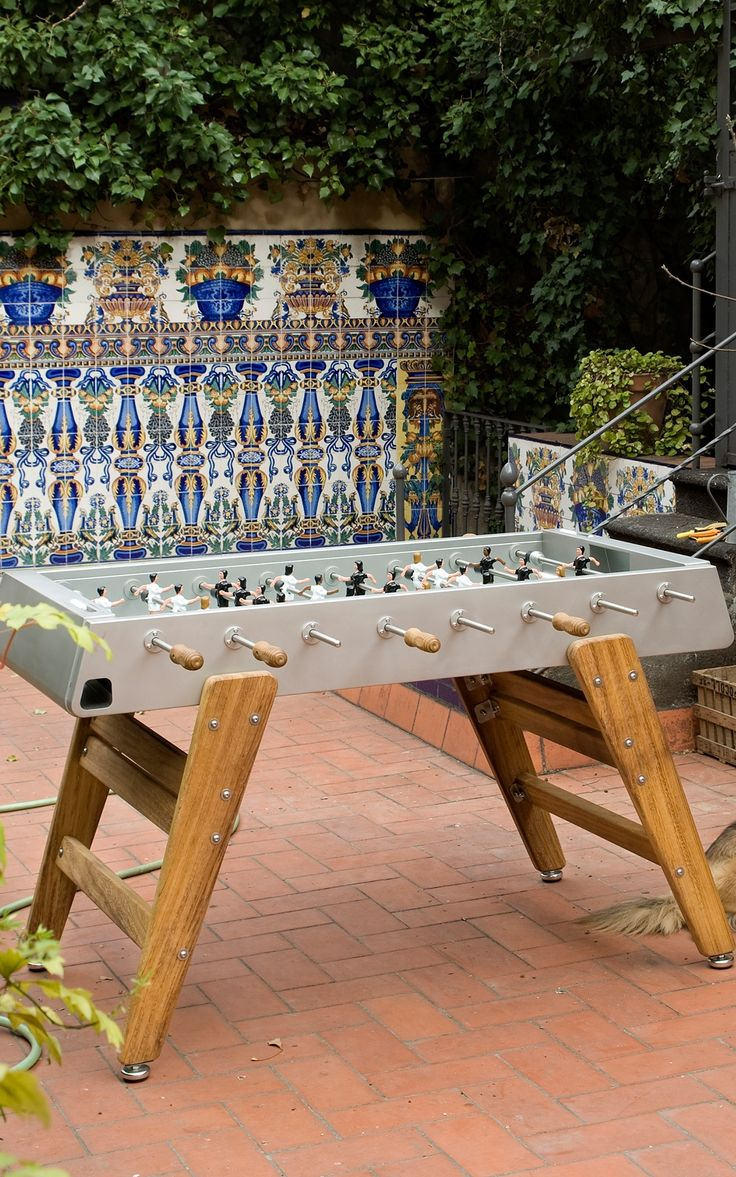An indoor/outdoor foosball table built to withstand any assault, be it hostile weather or a hotly contested match between friends.