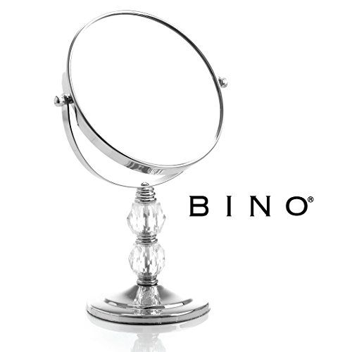 BINO 'The Brilliant' 6-Inch Double-Sided Mirror with 3x Magnification. For product & price info go to:  https://beautyworld.today/products/bino-the-brilliant-6-inch-double-sided-mirror-with-3x-magnification/
