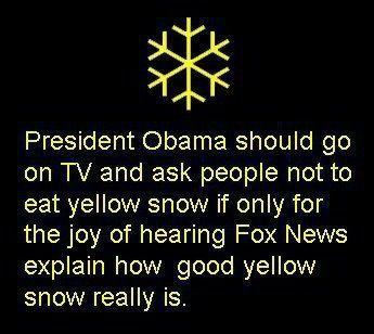 lolPolitics, Yellow Snow, Laugh, Foxes Lying, Liberal, Funny Stuff, Things, Foxes News, Faux News