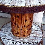 Cable Spool and Old Barrel Table