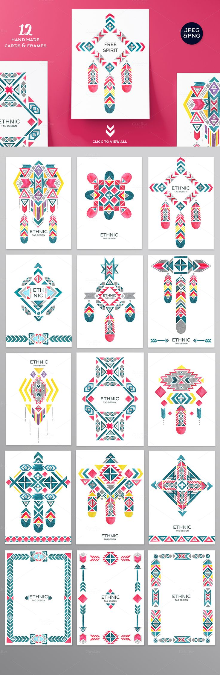 Watercolor Ethnic Set (DIY PACK) - Illustrations - 2