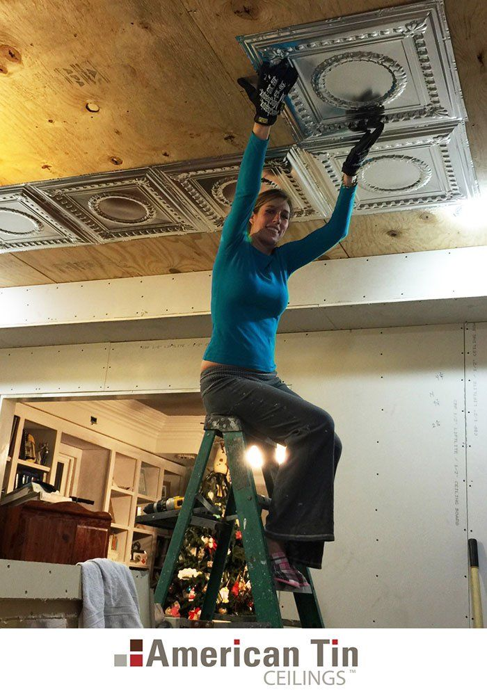 American Tin Ceilings Blog - Renovating a Victorian Home - Nevin and Sharla's Tin Ceiling Installation American Tin Ceilings
