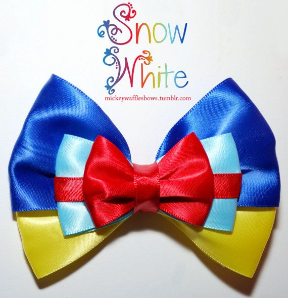 Arco del pelo blanco de nieve por MickeyWaffles en Etsy