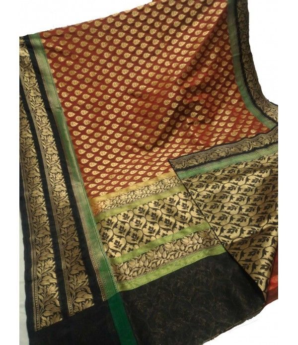 Maroon Banarasi Handloom Dupion Silk Saree------------------------------------------------------Traditional sarees-are the most in-trend Indian apparel of all time and their charm doesn't seem to simmer down anywhere .---------------Sarees from Luxurionworld