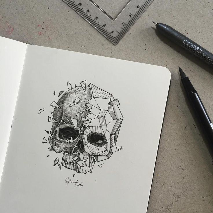 Here's a skull for today's gloomy weather.