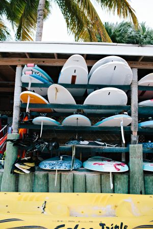 Surfboards in St Thomas