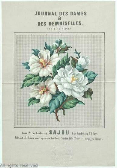 A SAJOU Berlin WoolWork Pattern Published In France ~ Journal Des Dames & Des Demoiselles ~ MoMu