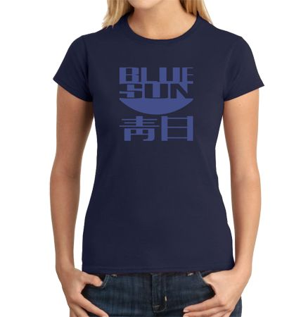"""The 100% cotton Firefly Blue Sun Women's T-Shirt features the ominous Blue Sun logo made famous by by Jayne Cobb's costume in the """"Bushwhacked"""" episode of Firefly."""