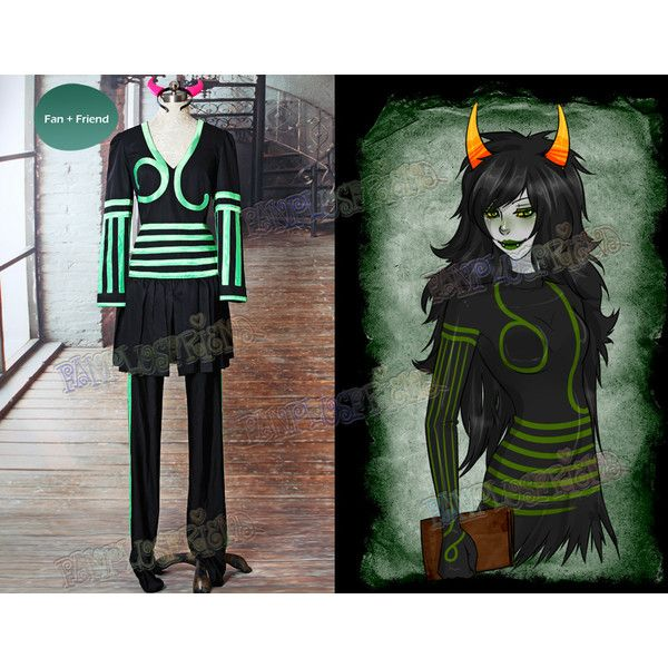 Homestuck Inspired Cosplay The Disciple Costume Outfit ($108) ❤ liked on Polyvore featuring costumes, cosplay halloween costumes, cosplay costumes and role play costumes