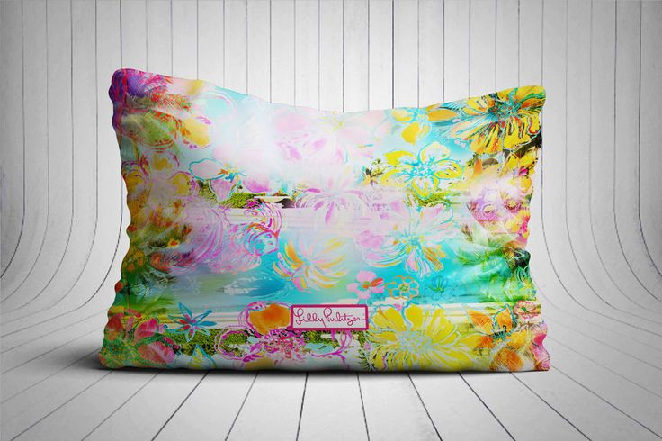 "Abstrac Lilly Pulitzer Custom Design Pillow Case 16""x24"" Print On #Unbranded #pillowcase #pillowcover #cushioncase #cushioncover #best #new #trending #rare #hot #cheap #bestselling #bestquality #home #decor #bed #bedding #polyester #fashion #style #elegant #awesome #luxury #custom #lillypulitzer #abstract #floral #flower #women"