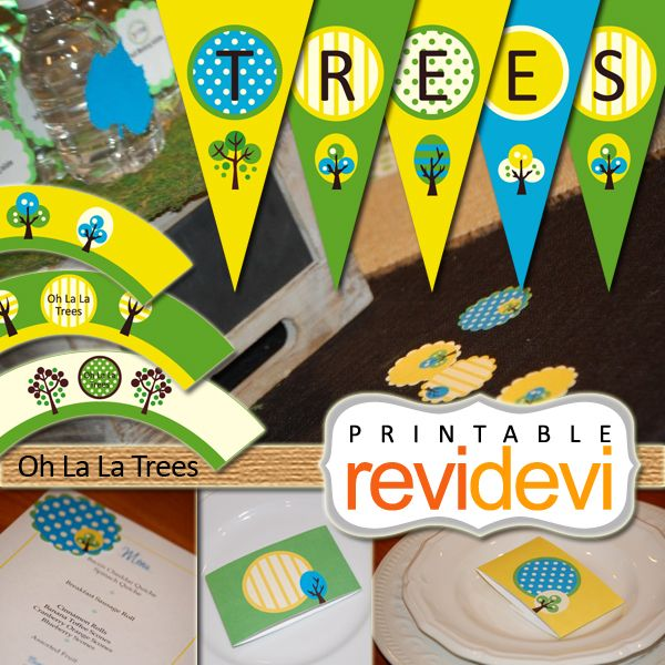 Oh La La Trees Party Printable