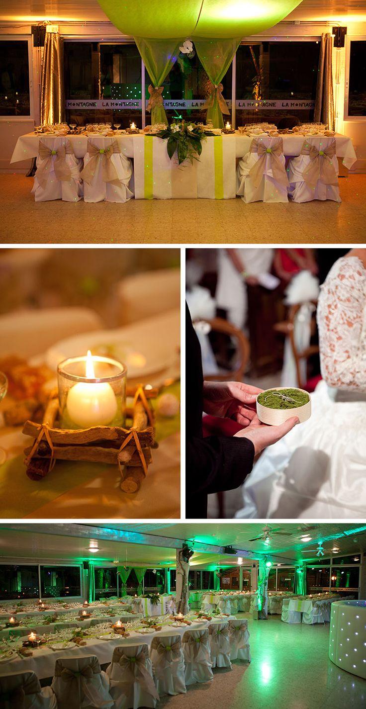 D coration de mariage th me nature clairages et - Decoration table mariage theme nature ...