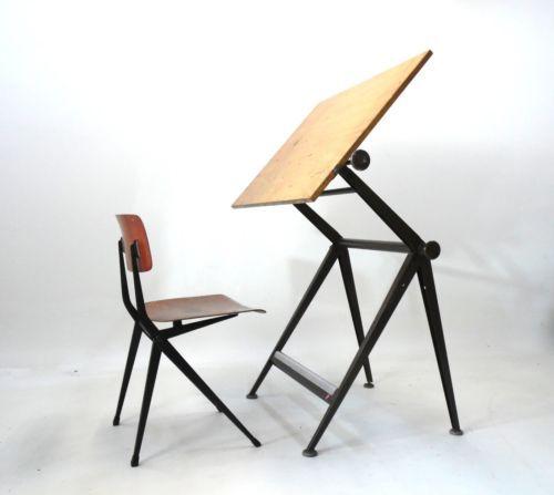 Friso Kramer & Wim Rietveld – Reply  Zeichentisch 50er 60er  wegner/knoll Ära  in Antiquitäten & Kunst, Design & Stil, 1960-1969, Mobiliar & Interieur | eBay