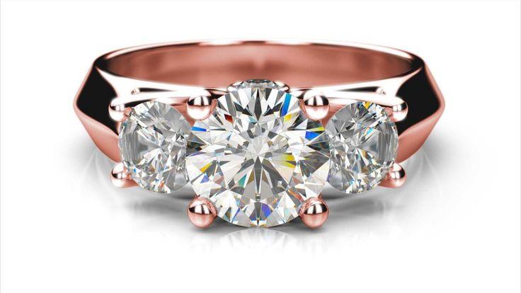 Zásnubný prsteň Vera round