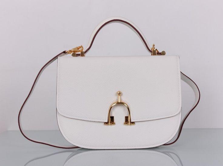 Сумка Hermes кожаная, новая модель, белая. Размер 28х21х7см #19280