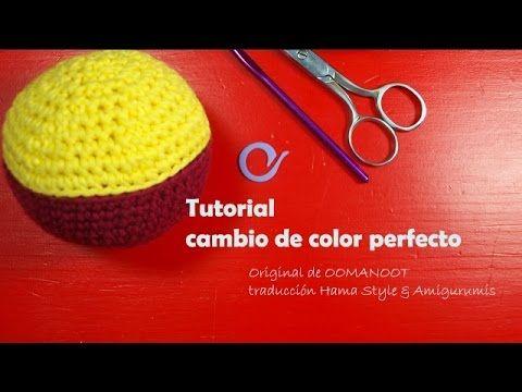 TUTORIAL - Cambio de color perfecto - Crochet.amigurumis, My Crafts and DIY Projects