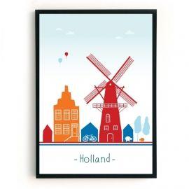 Holland / Nederland: dan denkt Mevrouw Emmer aan molens, de heldere lucht (mooie wolken), het platteland / de open ruimte, maar ook aan de grachtenpanden..Deze eigenzinnige, wereldse poster is er in twee verschillende formaten, te weten:A3: 29,7 x 42 cm, hagelwit papier, 160 gramsB2: 50 x 70 cm, hagelwit papier, 160 gramsDe poster wordt in een koker, maar zonder lijst geleverd.Is dit jouw thuis, maar toch nét niet helemaal? Maak dan je wensen kenbaar en neem contact op! #skyline