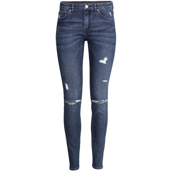 H&M Slim Regular Jeans ($30) ❤ liked on Polyvore featuring jeans, pants, bottoms, calças, dark denim blue, h&m, blue slim jeans, slim leg jeans, h&m jeans and blue jeans