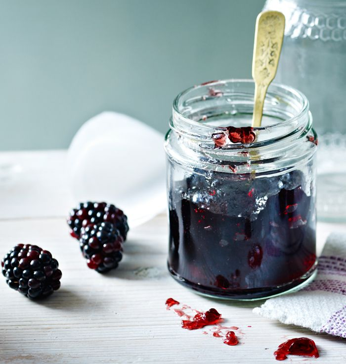 When summer berries come out, it's time to get jammin'. Blackberry jam, strained of it's pips, is delicious with toast or cheese and biscuits.
