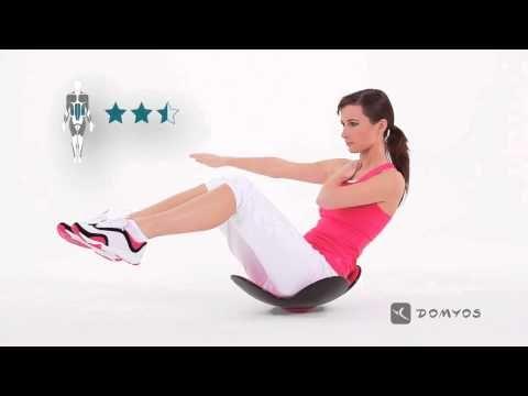 Exercice 7 gainage et fléchisseur de hanches - Abdo Gain - Domyos - YouTube