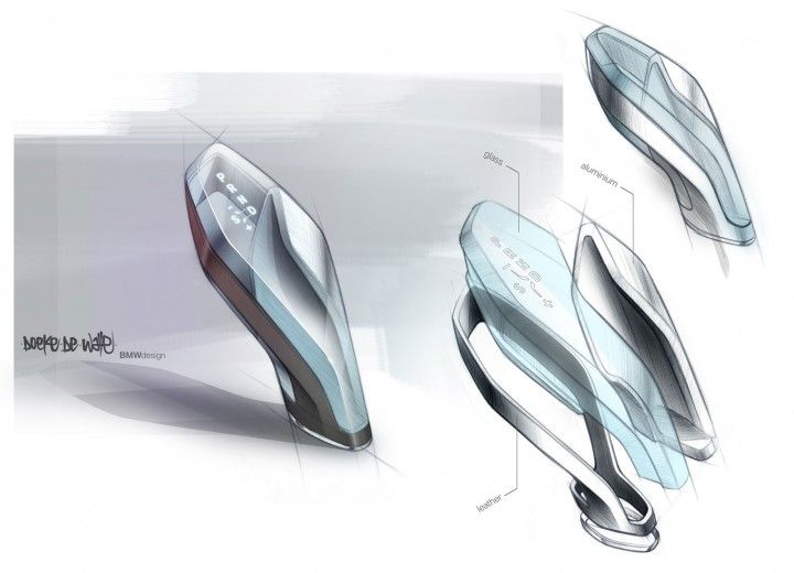 From Car Body Design | BMW Vision Future Luxury Concept - Interior Design Sketch by Doeke de Walle