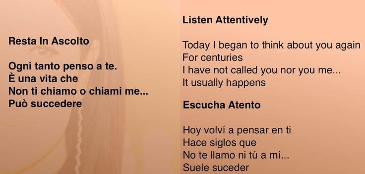 Laura Pausini una delle nostre cantanti più tradotte all'estero, trasmettere emozioni in lingua originale è la chiave del successo di molti brani musicali o film d'autore.  8 febbraio 2006 presso New York  Svoltasi a New York la 48ª edizione dei Grammy Awards, orgoglio italiano. Laura Pausini prima cantante italiana vincitrice del prestigioso premio nella sezione latina con Resta in ascolto  #pausini #storytelling #directo