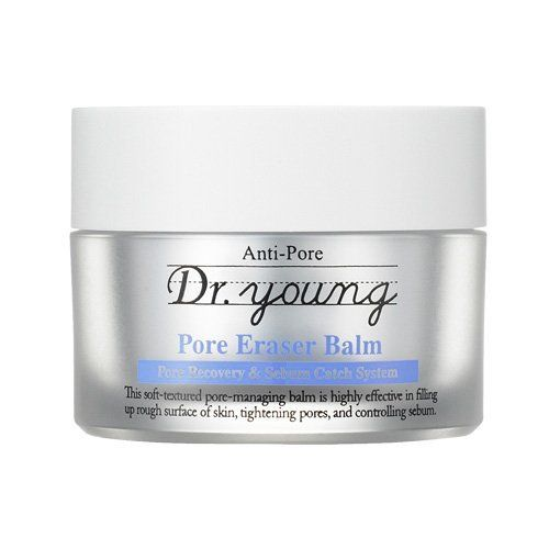 Dr. Young Anti-Pore Pore Eraser Balm by Dr. Young. $29.00. To remain your skin feels light and fresh throughout the day With its porous sebum control powder absorbs excess sebum on surface of skin and then silicon elastomer gel absorbs sebum placed deep in pores, it helps to make your skin feel light.. To make your pores tightened and elastic. Swiss Alpine Herb Extracts and Witch Hazel Extract will control sebum and tighten pores to keep your skin soft and moist thro...