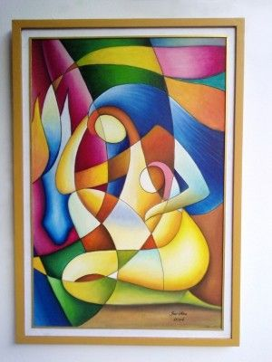 pintura moderna al oleo                                                                                                                                                                                 Más