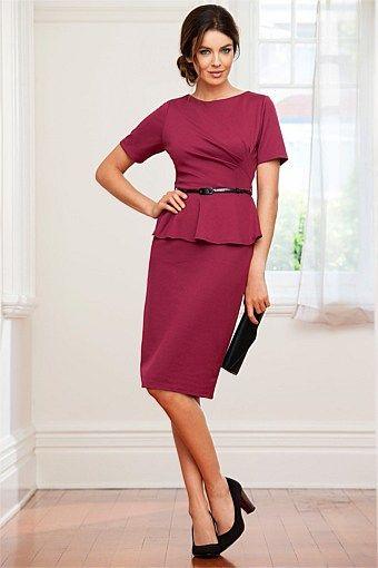 Capture Dresses - Brands - Capture Ponti Peplum Dress - EziBuy Australia