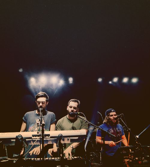 Kyle Simmons, Will Farquarson, Chris Wood from Bastille