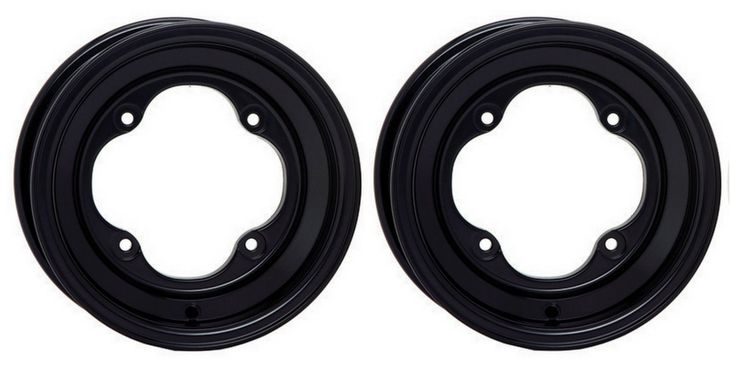 "2 STI 8"" Black Rear Wheels KTM450/525 SX/XC/Straight Axle Polaris Outlaw 450/525"