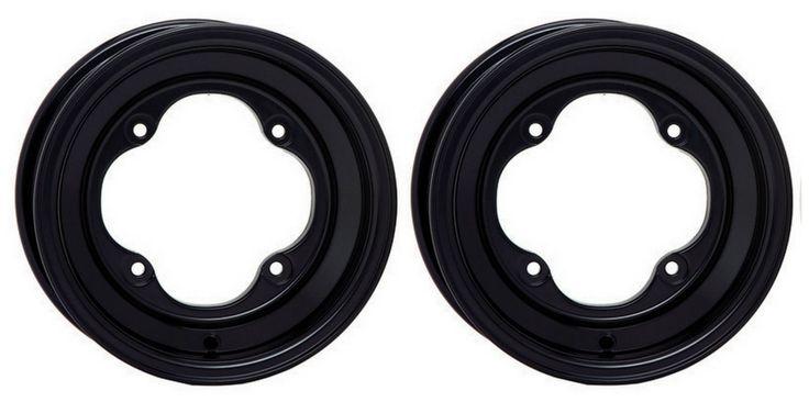 """2 STI 8"""" Black Rear Wheels KTM450/525 SX/XC/Straight Axle Polaris Outlaw 450/525"""