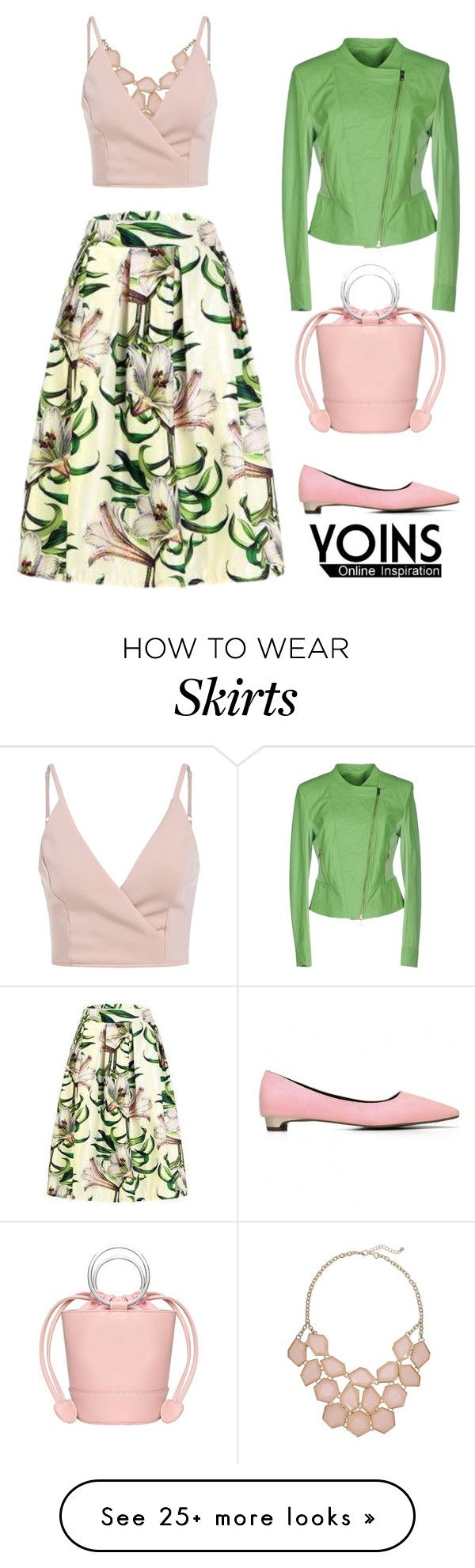 """floral skirt"" by chiarettadesign on Polyvore featuring KI6? Who Are You?"