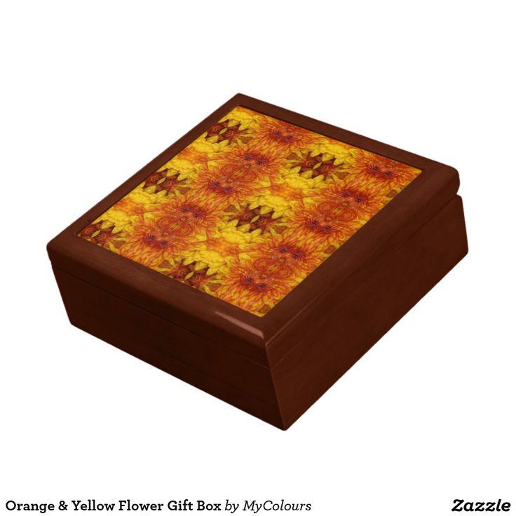 Orange & Yellow Flower Gift Box
