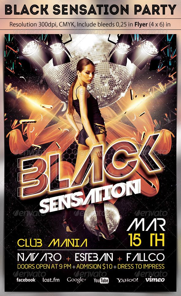 black sensation party fonts logos icons pinterest print