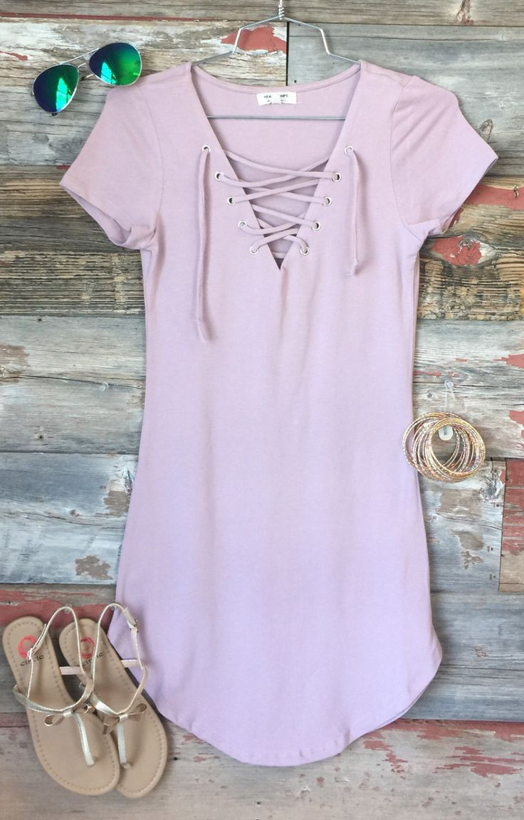 Fun in the Sun Tie Dress: Dusty Rose from privityboutique