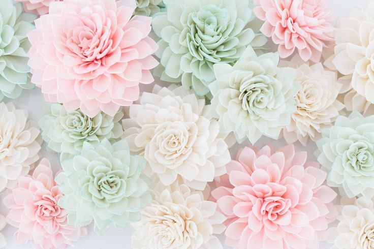 10 Mint Wooden Flowers, Wedding Decorations, Wedding Flowers, Mint Wedding